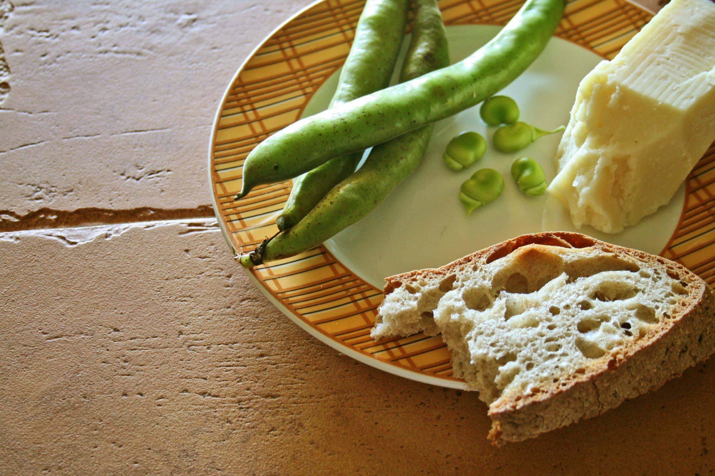 specialité - culinaire - rome - fèves - pecorino
