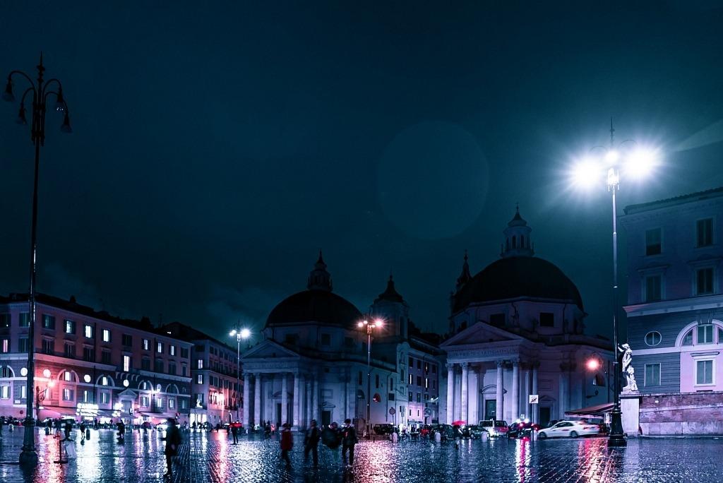Nuit d'hiver à Rome